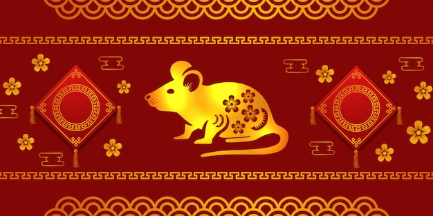 Chinees nieuwjaar 2020 van rat of muis