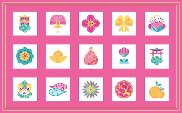 Chinees nieuwjaar 2021 bundelontwerp, chinese cultuur en feestthema