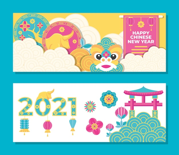 Chinees nieuwjaar 2021, chinese cultuur en feestthema