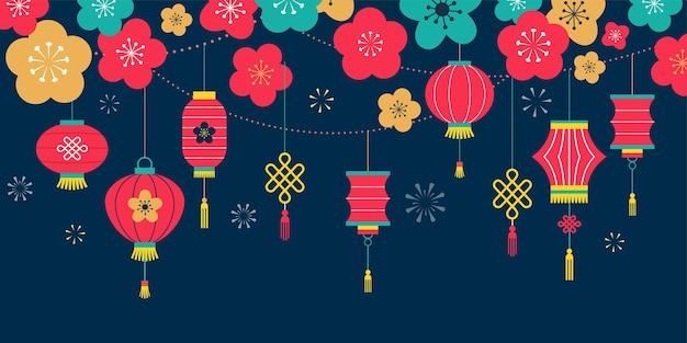 Chinees nieuwjaar achtergrond,