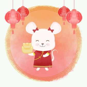 Chinees nieuwjaar festival, muis sterrenbeeld jaarteken