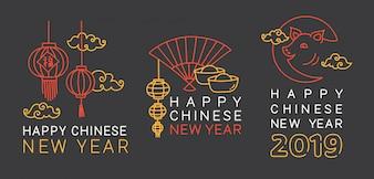 Chinees Nieuwjaar groet badge