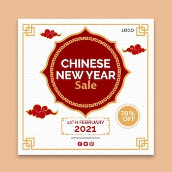 Chinees nieuwjaar instagram-bericht