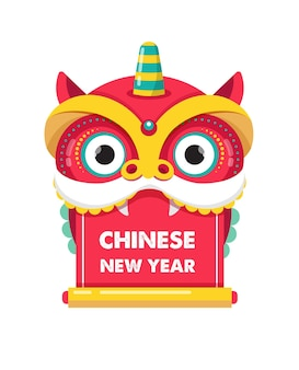 Chinees nieuwjaar, rood draakkarakter