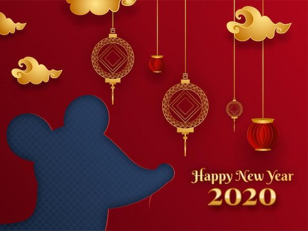 Chinees nieuwjaar van rat, 2020-kaart
