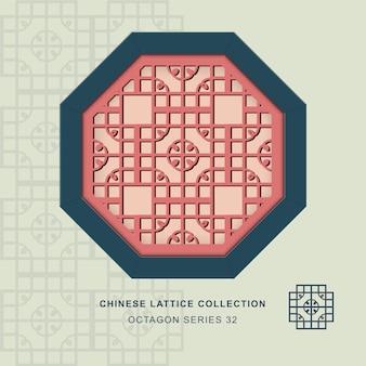 Chinees raam maaswerk achthoekig frame van ronde hoek