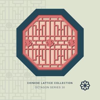 Chinees raammaaswerk achthoekig frame van sterbloem