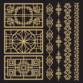 Chinese decoratie, traditionele antieke koreaanse grenzen en frames