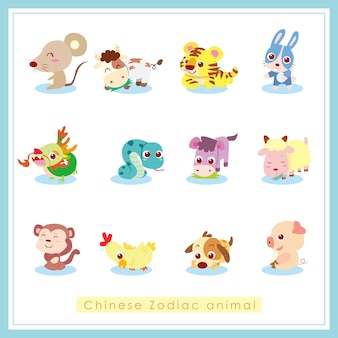 Chinese dierenriem dier, cartoon afbeelding