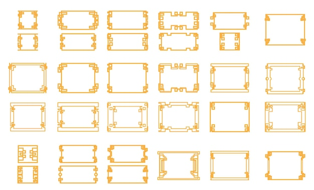 Chinese frame vector sjabloon set