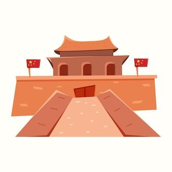 Chinese hoofdstad. peking. vectorillustratie in vlakke stijl