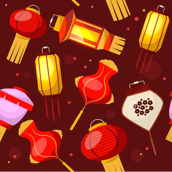 Chinese lantaarn achtergrondpatroon.