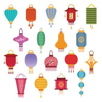 Chinese lantaarns illustratie.