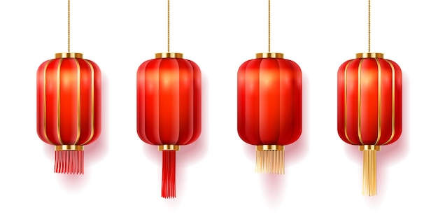 Chinese lantaarns of papieren lampjes