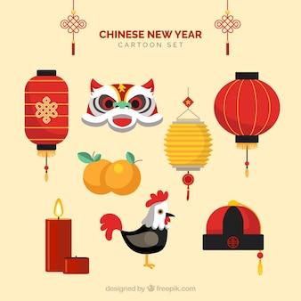 Chinese nieuwe jaar cartoons