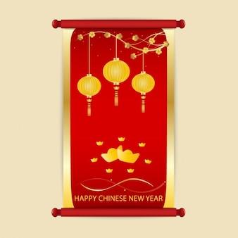 Chinese nieuwe jaar oprollen