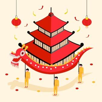 Chinese nieuwe jaarillustratie
