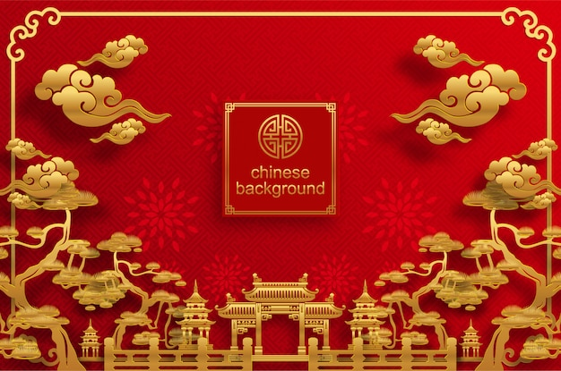 Chinese oosterse bruiloft achtergrond