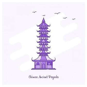 Chinese oude pagode oriëntatiepunt