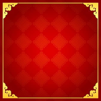 Chinese traditionele achtergrond met gouden frame