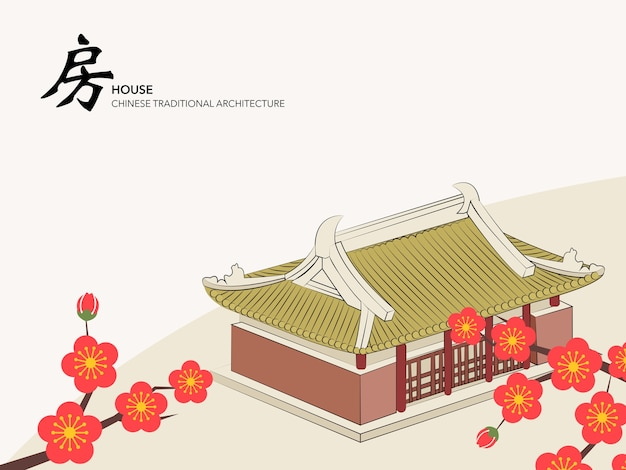 Chinese traditionele architectuur gebouw huis