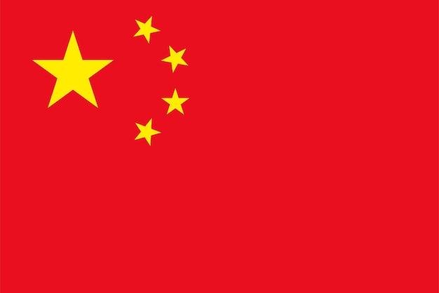 Chinese vlag - originele kleuren en verhoudingen. vectorillustratie eps 10