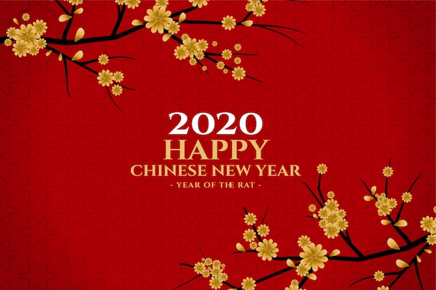 Chinese wenskaart voor nieuwjaar festivalseizoen