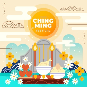 Ching ming festival illustratie