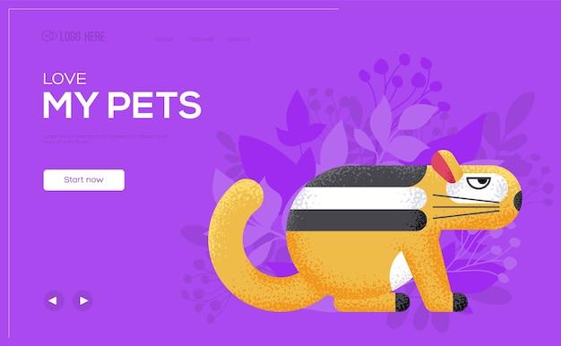 Chipmunk concept flyer, webbanner, ui-header, site invoeren. .