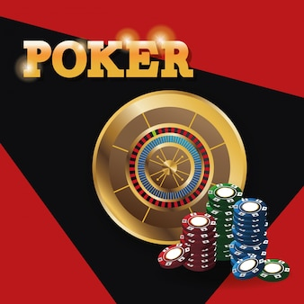 Chips en roulette pictogram