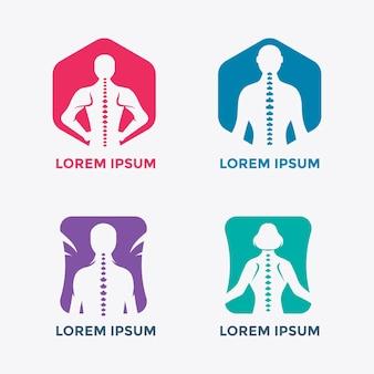 Chiropractie embleem set illustratie