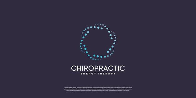 Chiropractie logo met creatief element concept premium vector deel 1