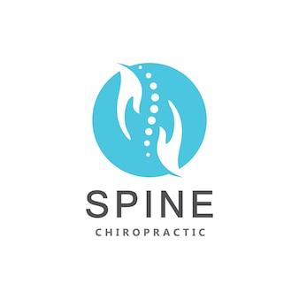 Chiropractie wervelkolom dot logo vector pictogrammalplaatje