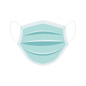 Chirurgisch gezichtsmasker dat op wit wordt geïsoleerd