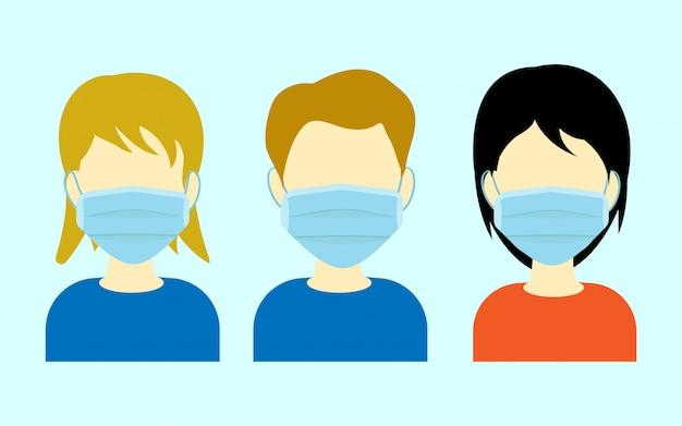 Chirurgisch gezichtsmasker met karakter