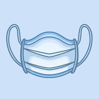 Chirurgisch masker met plat ontwerp om mond en neus te bedekken