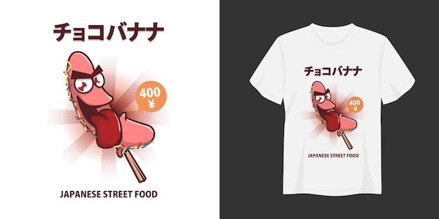 Choco banana t-shirt en kleding trendy ontwerp typografie print vectorillustratie
