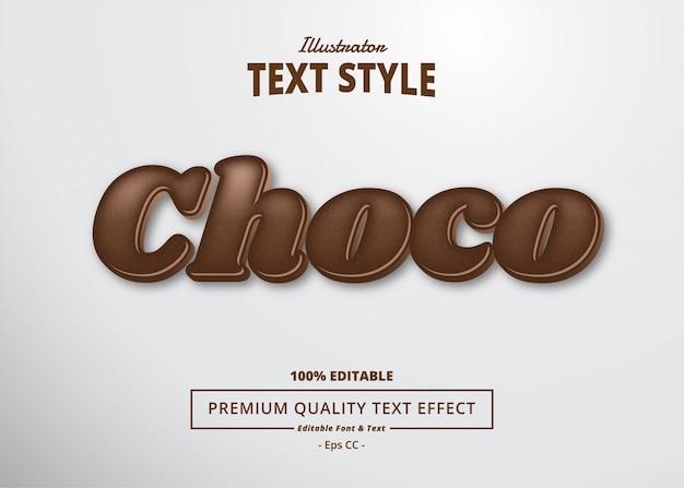 Choco teksteffect_2