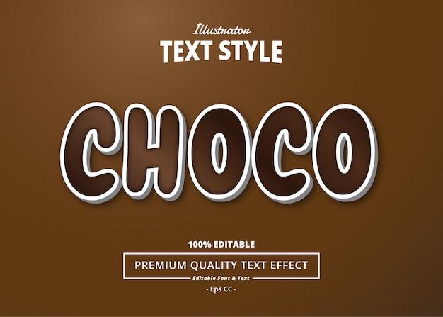 Choco-teksteffect