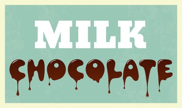 Chocolade achtergrond ontwerp