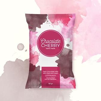 Chocolade cherry kleurrijke verpakking