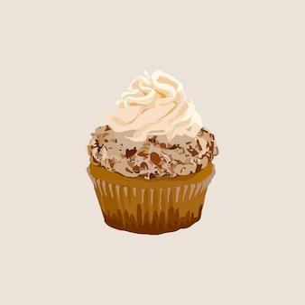 Chocolade cupcake. vector illustratie