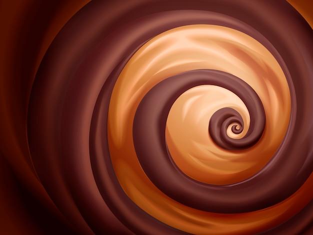 Chocolade en karamelsaus achtergrond voor gebruik