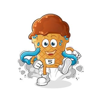 Chocolade-ijs loper karakter.