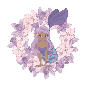 Chocolade mermaid bloemen bloem krans