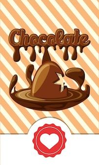 Chocolade met gebroken chocolade ei pictogram