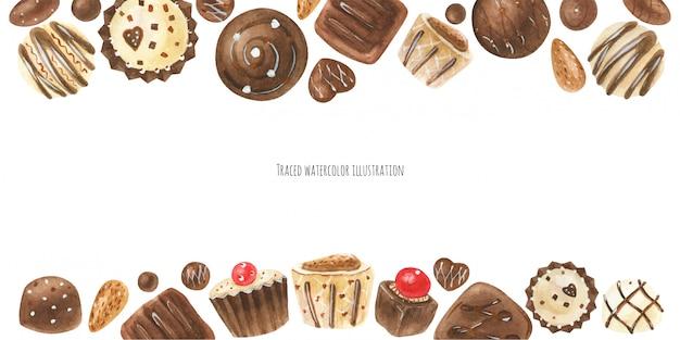Chocolade snoepjes kop