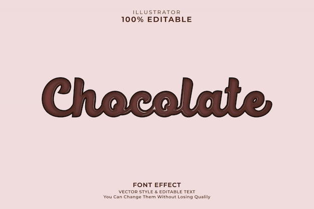 Chocolade tekst effect