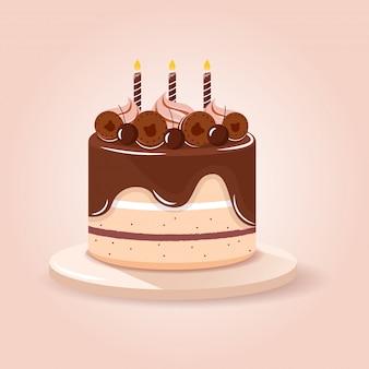 Chocoladebruine cake