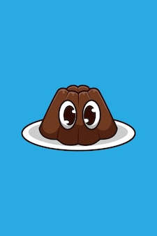 Chocoladepudding cartoon afbeelding